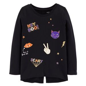 Carters Glow-In-The-Dark Halloween Split Back Top